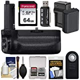 Sony VG-C4EM Vertical Battery Grip with Battery & Charger + 64GB Card + Remote + Reader + Kit for Alpha A7R IV & A9 II Cameras