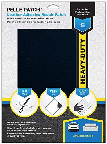 Pelle Patch - Leder & Vinyl Zelfklevende Herstelpatch - 25 Kleuren Beschikbaar - Heavy-Duty 20cm x 28cm - Donkerblauw