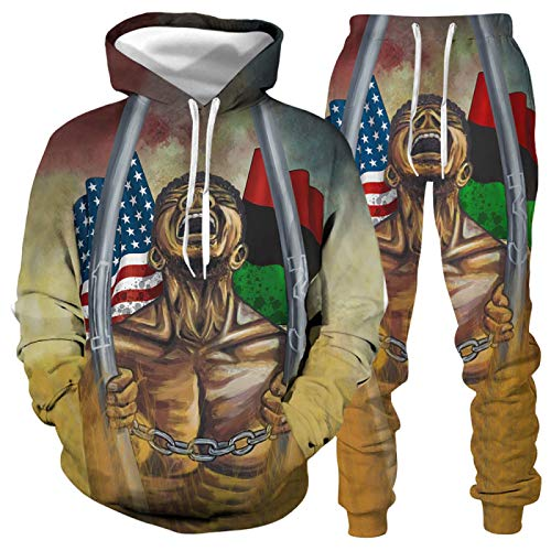 DREAMING-Otoño e invierno impresión 3D casual jersey de cuello redondo con capucha camiseta de manga larga + pantalones 2 trajes de ropa deportiva 5XL