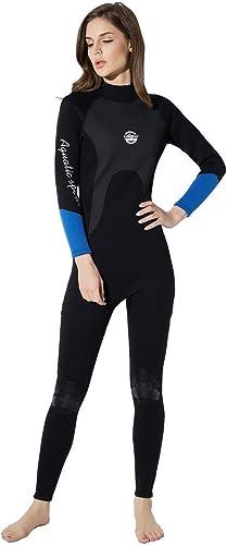 SD Siamois Chaud Costume de plongée Complet du Corps, Costume de plongée en apnée male, matériau 2MM crème Solaire Chaude Manches Longues Corset Wetsuit Femelle vêteHommests de Surf en apnée