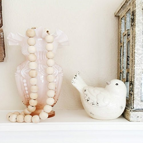 S-TROUBLE Natutral Holzperle Kinder Baby Kinderzimmer Dekor rustikale Hochzeitsvase Ornament