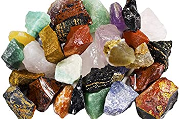 3 lbs of a Bulk Rough SOUTH AMERICAN Stone Mix - A Beautiful Stone Mix - Large 1  Natural Raw Stones & Fountain Rocks for Tumbling Cabbing Polishing Wire Wrapping Wicca & Reiki Crystal Healing