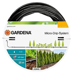 Gardena 13131-20 Extensión delSet de Plantas goteros incluidos 13 mm (1/2″): prolongación Tubo de Goteo 25 m del Sistema Micro-Drip paraSets de Inicio para hileras, Estándar, 50X50X10 cm