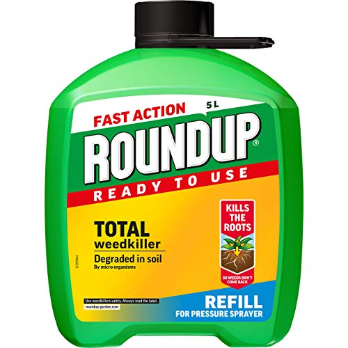 Roundup Fast Action Total Weedkiller 5 Litre Refill