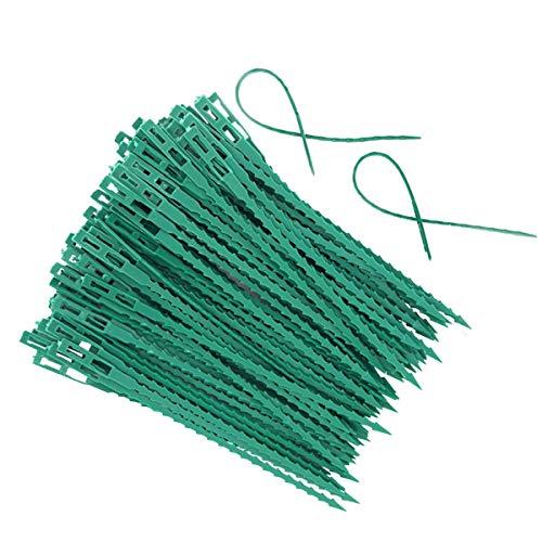 100 Pcs attaches en plastique,attaches torsadées réglables pour plantes de jardin,clips de fleurs, pour jardinage et plantes,attaches de câble en plastique pour aider à soutenir les plantes,vignes