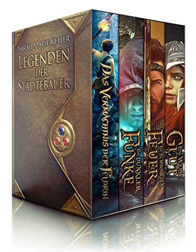 Legenden der Städtebauer (Sammelband mit 4 Romanen: Das Vermächtnis der Peldrin, Ein dunkler Funke, Ein schwarzes Feuer, Eine weiße Glut)