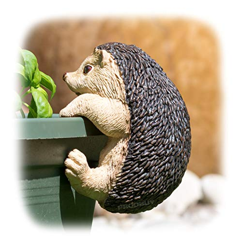 ProdBuy Home Plant Pot Hanging Garden Ornament (Brown Hedgehog)