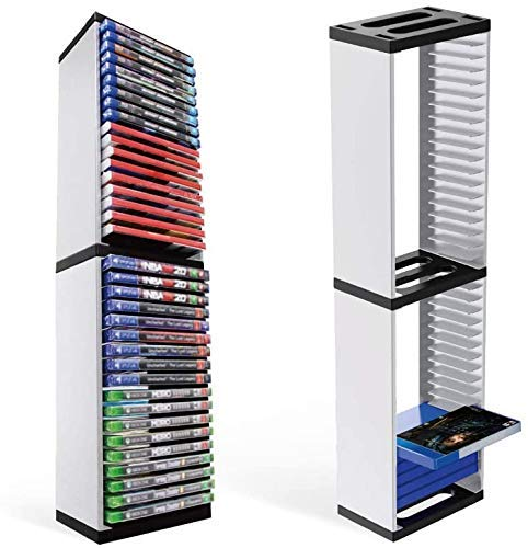 DAHAKII Storage Tower for PS5 Games PS5 Game Storage Tower Storage Stand Compatible with PS5 PS4 Xbox Nintendo Switch Games