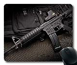 Yanteng Alfombrilla de ratón, Soporte de Pistola para Carr, HD Gun s p, Alfombrilla de ratón con Bordes cosidos