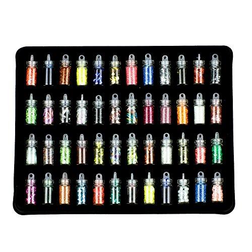 Artlalic 48 bouteilles 3D Nail Art, décoration pour scrapbooking, visage, ongles, yeux, DIY, dessin, pâte