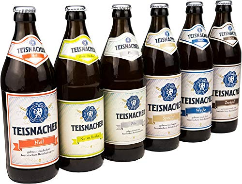 Ettl Bräu Teisnacher Gemischtes Sixpack, Sechser-Pack inkl. Pils, Natur Radler, Zwickl, Weißbier, Helles Bier, Spezialbier