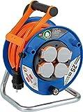 Brennenstuhl Garant Kabeltrommel (25m BREMAXX®-Kabel in orange, Outdoor-Kabeltrommel mit 4 spritzwassergeschützten Schutzkontakt-Steckdosen, für den Einsatz im Außenbereich IP44, Made in Germany)