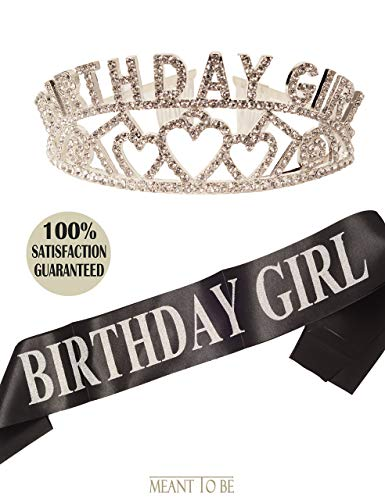 Birthday Decorations, Happy Birthday, Birthday Girl Sash and Tiara, Birthday Girl Headband, Birthday Girl Accessories, Happy Birthday Party Supplies, Favors, Decorations 13th, 16th, 21st, 30th, 35th,