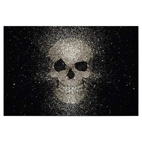 artboxONE Poster 30x20 cm Für Mama Skull Glitter Gold hochwertiger Design Kunstdruck - Bild schädel Glitter Gold