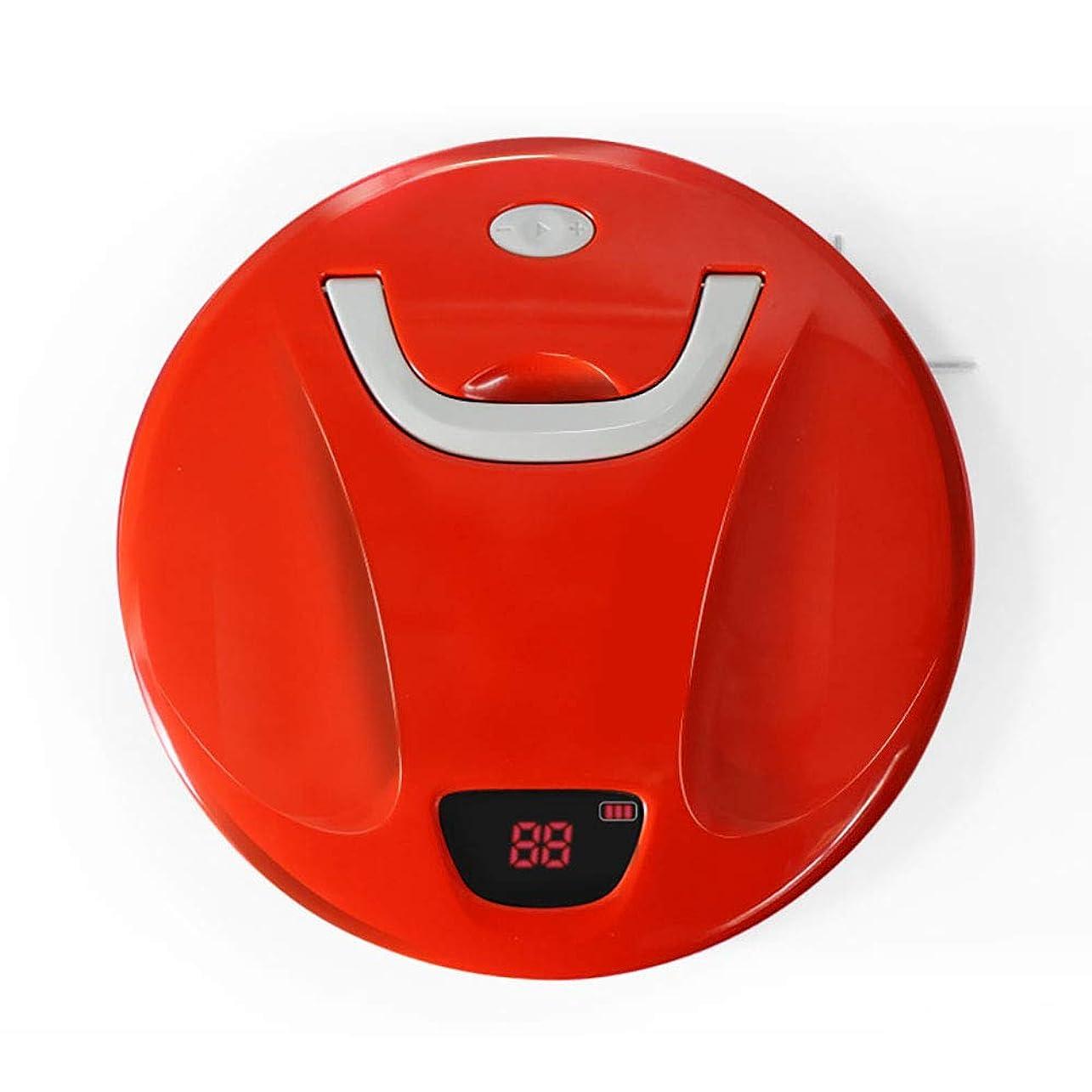 論争翻訳腹インテリジェントロボット掃除機、自動掃除モップクリーニングロボットポータブルハンドルは、硬い床の両側ブラシABS材料を延長