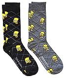 Hyp The Simpsons Herren Socken Homer and Bart Argyle, 2 Paar