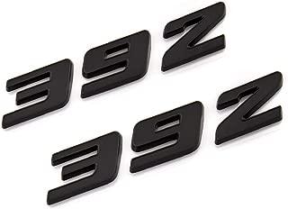 2X 392 Emblem 3D Logo Badge Premium Car Decal Fit For Hemi Challenger Chrysle 300c (Black)