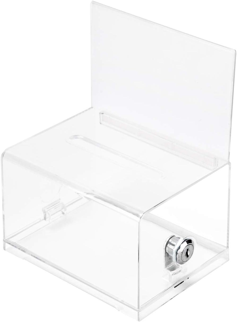 Long Beach Mall Amazon Basics Clear Ballot Box With Brand new Lock