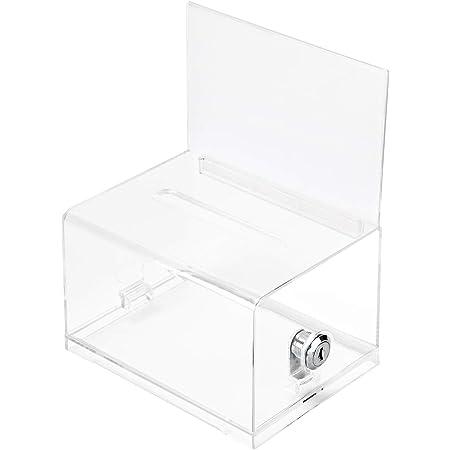 Amazon Basics Clear Ballot Box With Lock