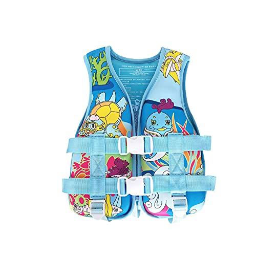 Kinder- Kleinkind-Badeanzug-Weste lernen,Sommer Schwimmweste, Auftriebsweste Kinder Tauchausbildung Feststoff Rettungsweste leichte Schwimm Hilfe Licht Neopren Auftrieb 15-30kg für Kinder/Erwachsene