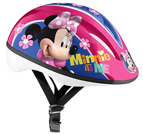 Stamp Bicycle Helmet Minnie Cascos, Niñas, Rosa, Talla-XS