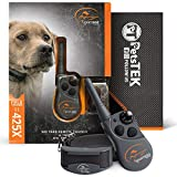 SportDOG SD-425X Electronic Dog Training Collar with Remote for Small Dogs to Large Dogs - 500 Yard Range, Vibration, Tone, Up to 21 Stimulation Levels, Waterproof, Rechargeable, w/PetsTEK Towel
