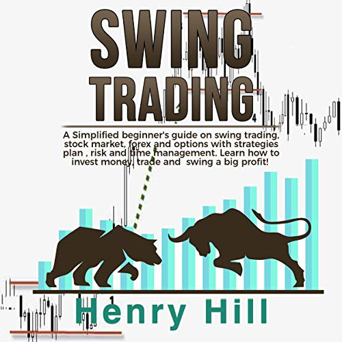 Swing Trading: A Simplified Beginner's Guide on Swing Trading, Stock Market, Forex and Options with Strategies Plan, Risk and Time Management cover art