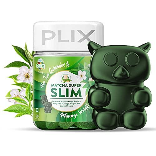 PLIX Olena Japanese Matcha Gummies with 137+ Antioxidants than Green Tea, for Fat Burn & Weight Loss, 60 Count
