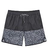 TY.OLK Pantalones Cortos de Playa con Tabla de natación Vintage para Hombre, bañadores Cortos de Surf de Verano con Forro de Malla