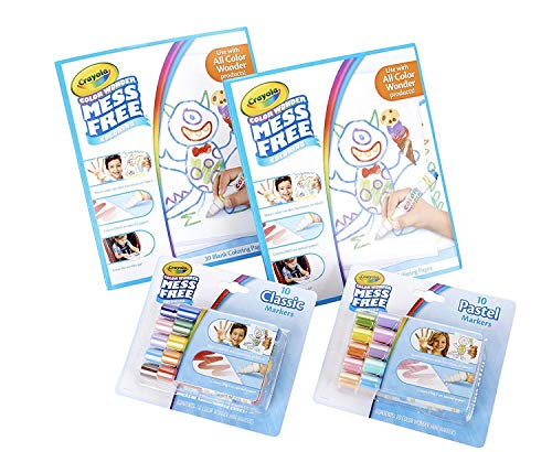 Crayola Color Wonder Mess Free Coloring Kit, Toddler Stocking Stuffers, 80 Pieces