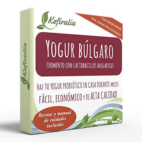 Fermento de Yogur Búlgaro (Reusable de forma ilimitada) + Instrucciones + Recetas + Ayuda y asesoramiento en español - KEFIRALIA