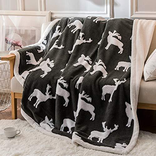 LIANG Kasta filt-mjuk lättvikt filt-mikrofiber-helgdag kasta blanske-dubbelsidig super mjuk lyxig plysch-för soffa soffa säng och vardagsrum (Color : C, Size : 150 * 200CM/59 * 78IN)
