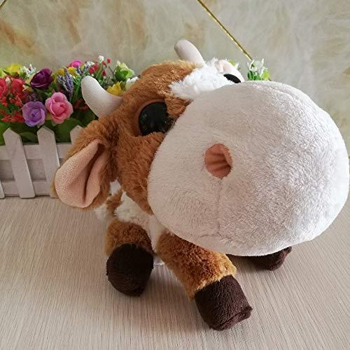 letaowl Plüschtier Große Augen gefüllte Rinder Plüsch Spielzeug süße Tier Puppe Gute Qualität Mädchen Kinder Spielzeug Big Headz Kopf