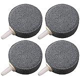 FANDE Difusor de Burbuja,Burbuja de Piedra,para Tanque de Peces de Acuario Bomba Hidropónica Difusor de Piedras de Aire de Cerámica, Paquete de 4.