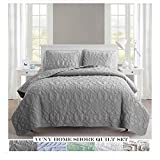 VCNY Home Shore Collection Quilt Set - Ultra-Soft Reversible Coverlet...