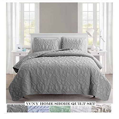 Gray Shore Quilt Set King 3pc - VCNY