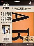 FolkArt Stencil Paper, Alphabet & Monogram Serif 5', 5