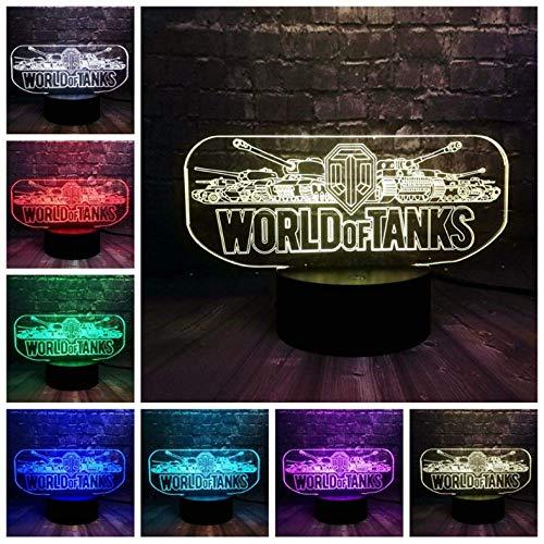 Preisvergleich Produktbild 3D LED illusion Lampe Spiel Prop World Tank Car Schlafzimmer Dekor 7 Farbwechsel Glanz Stimmung Nachtlicht Urlaub Freunde Spaß Geschenk