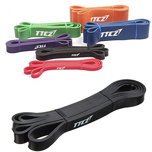 Bazaar Remise en forme noire ceinture élastique des bandes de résistance musculation exercice courroie de traction
