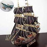MA Kits De Modelos De Barcos para Construir para Adultos Modelo De Papel DIY Vela Pepercraft Barco De Guerra Velero Barco Pearl Funs Antiguo Negro-Bricolaje