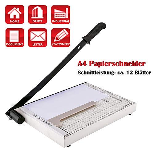 Voluker Papierschneider Profi Fotoschneider Hebelschneider Papierschneidemaschine Schneidegerät Schrottmaschineider (A4)