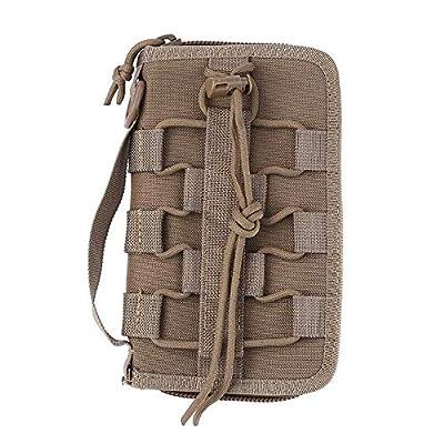 JINJULI Portable Tactical Wallets Men Carrying Handbags Phone Carrying Case Large Capacity Organizer Wallet