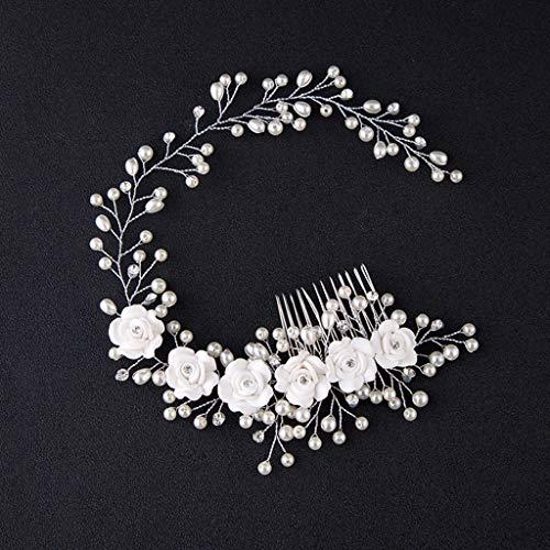 FAPROL Klassische Diademe, Damen Haarzubehör, Braut Exquisite Perlen Haarbänder, Mädchen Stirnbänder Zum Abendessen