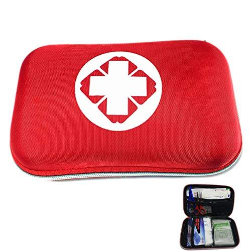 18 Artikel Erste-Hilfe-Notfall-Kit Eva-Tasche Auto Fahrrad Home Medical Bag Outdoor-Sport Notfall-medizinische Behandlung Rot