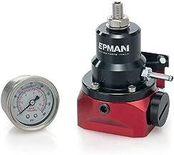 Epman TR-FPR717BR Jdm Adjustable FPR Fuel Pressure Regulator with 160psi Gauge AN10 Inlet & Return Ports