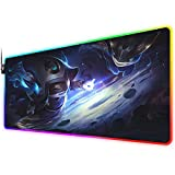 RGB Gaming Mouse Pad for Cosmic Enchantress lulu, LED Soft Extra Extended Large Mouse Pad,Anti-Slip Rubber Base,Computer Keyboard Mouse Mat 31.5 X 12 Inch