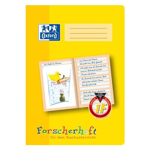 Oxford 100050094 - Quaderno per materie scientifiche, formato A4, lineatura 1F, 16 fogli, 90 g/m², carta ottica, confezione da 10 pezzi, giallo