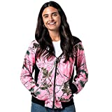 TrailCrest Women's Full Zip Up Hoodie Sweatshirt Casual Fashion Sweater Hooded Jacket, XL, Pink Camo