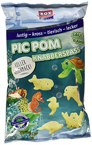 XOX Gebäck Pic Pom Knabberspaß, 1er Pack (1 x 125 g)
