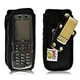 Turtleback Fitted Case Made for Sonim Strike XP3410 is Phone Black Leather Rotating Removable Belt Clip Made in USA